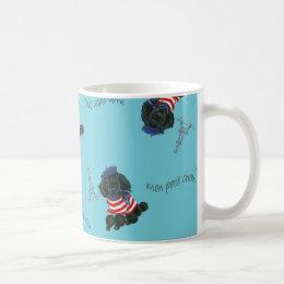 Mon Petit Chou Chou Black Poodle Puppy Coffee Mug