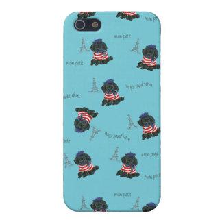 Mon Petit Chou Chou Black Poodle Puppy iPhone 5 Cases