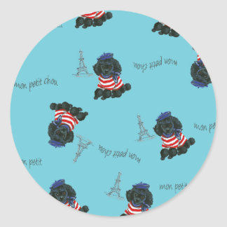 Mon Petit Chou Chou Black Poodle Puppy Sticker