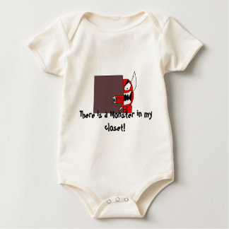 mon, There is a Monster in my closet! Baby Bodysuit