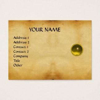 MON TOPAZ, SAPHIRE, bright  parchment Business Card