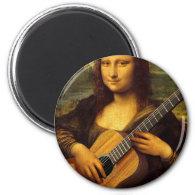 Mona Guitar 2 Inch Round Magnet