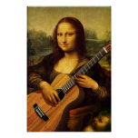 Mona Guitar Poster