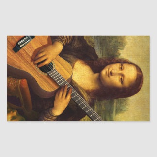 Mona Guitar Rectangular Sticker