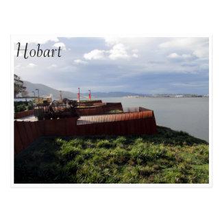 mona hobart view postcard