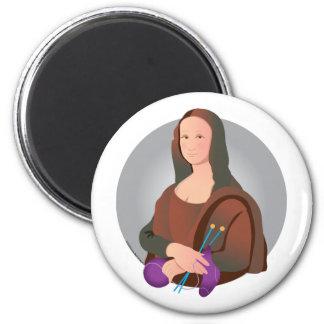 Mona Knits 2 Inch Round Magnet