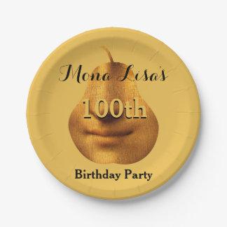 Mona Lisa 100th Birthday Party Paper Plates