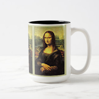 Mona LIsa (1) Two-Tone Coffee Mug