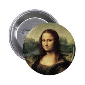 Mona Lisa 2 Inch Round Button