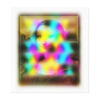 Mona Lisa 2dArtCode Gallery Wrapped Canvas