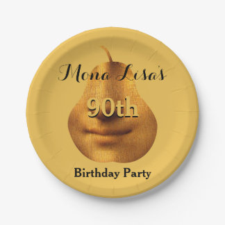 Mona Lisa 90th Birthday Party Paper Plates