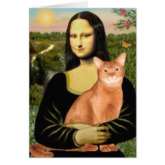 Mona Lisa - abisinio rojo Tarjeta De Felicitación