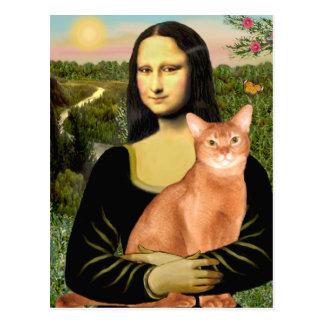 Mona Lisa - abisinio rojo Tarjeta Postal
