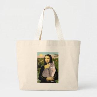 Mona Lisa - Abyssinian (blue 21) Large Tote Bag