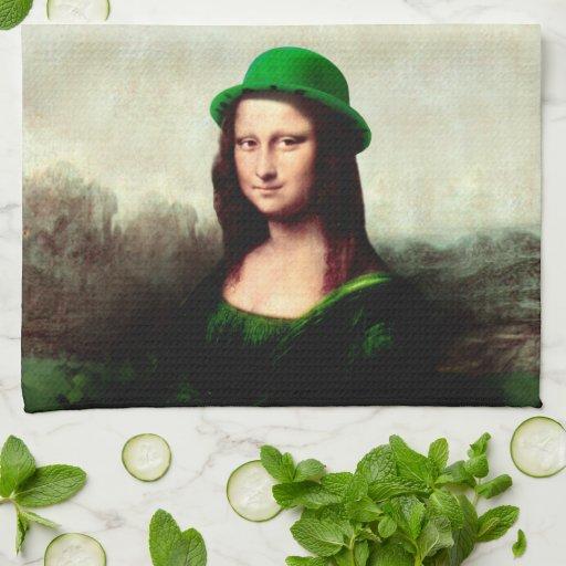 Mona Lisa afortunada Toallas De Mano