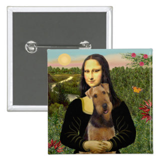 Mona Lisa - Airedale Terrier (#1) Pins