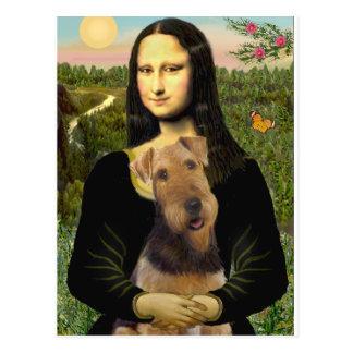 Mona Lisa - Airedale Terrier (#1) Postales