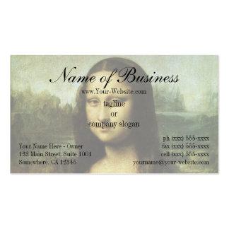 Mona Lisa (aka La Gioconda) by Leonardo da Vinci Double-Sided Standard Business Cards (Pack Of 100)
