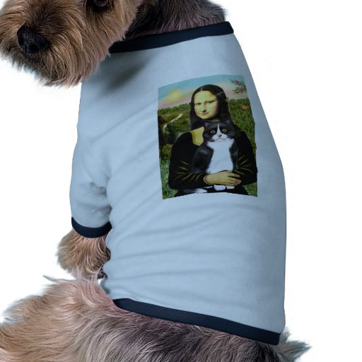 Mona Lisa - Am SH black and white cat Dog Clothes