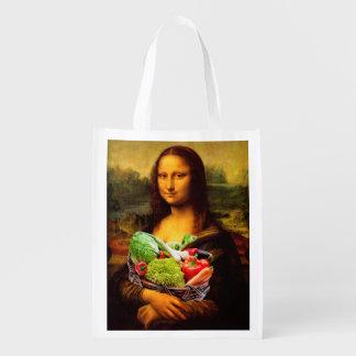 Mona Lisa ama verduras Bolsa Para La Compra