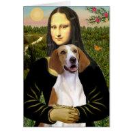 Mona Lisa - American Foxhound Card