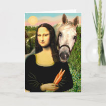 Mona Lisa and her Arabian Horse Card