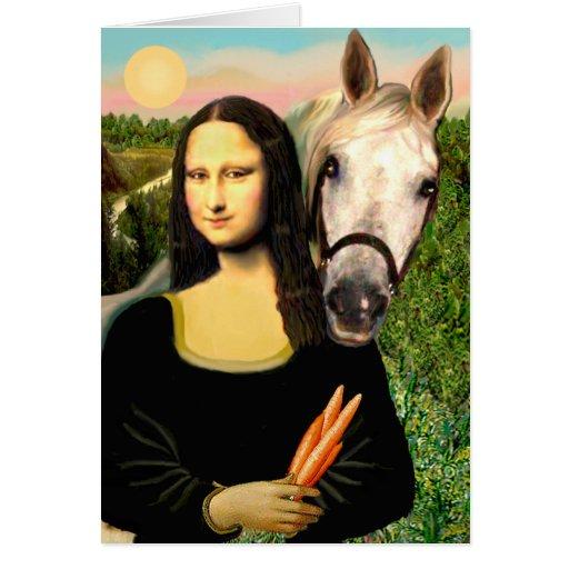 Mona Lisa and her Arabian Horse Card