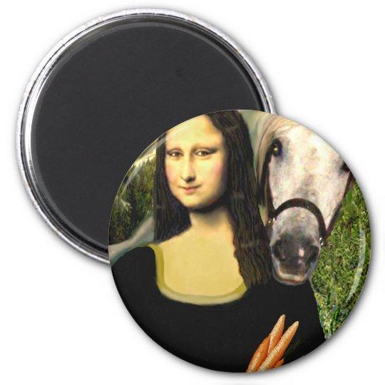 Mona Lisa and her Arabian Horse Magnet