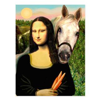Mona Lisa and her Arabian Horse Postcard