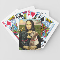 Mona Lisa and her Black Lab & Yellow Lab Deck Of Cards