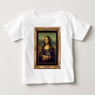 Mona Lisa and Her Rottweiler Baby T-Shirt