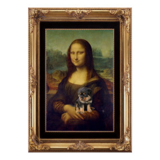 Mona Lisa and Her Rottweiler Poster