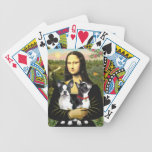 Mona Lisa and her Two Boston Terriers Deck Of Cards