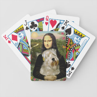 Mona Lisa and her Wheaten Terrier Bicycle Playing Cards