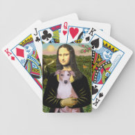 Mona Lisa and her Whippet Deck Of Cards