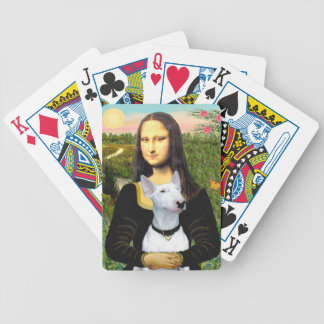 Mona Lisa and her white Bull Terrier Bicycle Playing Cards