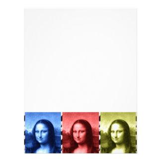 Mona Lisa Animal Print Primary Colors Letterhead
