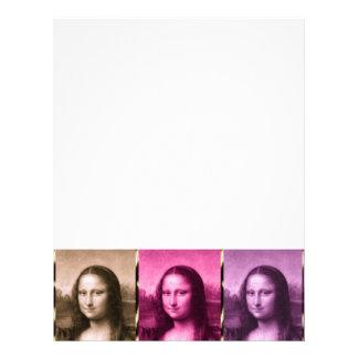 Mona Lisa Animal Print Purple Pink Chocolate Letterhead
