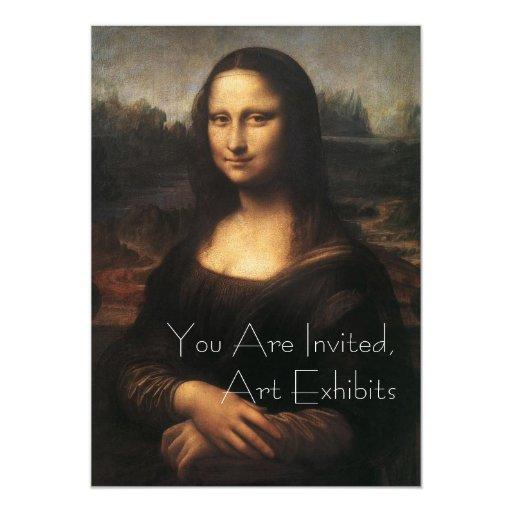 Mona Lisa Art Exhibits Invitations