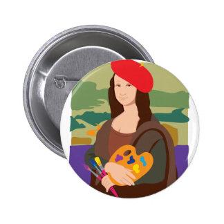 Mona Lisa Artist 2 Inch Round Button