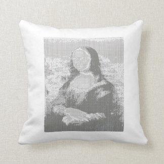 Mona Lisa ASCII Art Pillow 20 x 20