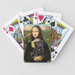Mona Lisa - barro amasado negro Baraja