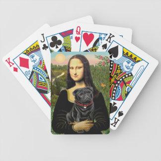 Mona Lisa - barro amasado negro Cartas De Juego