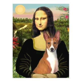 Mona Lisa - Basenji 1 Tarjetas Postales
