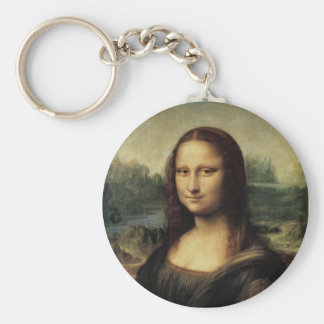 Mona Lisa Basic Round Button Keychain