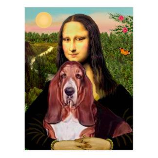 Mona Lisa - Basset Hound #1 Postcard
