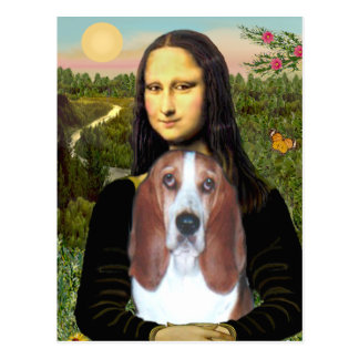 Mona Lisa - Basset Hound #4 Postcard