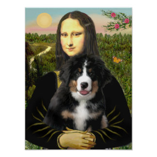 Mona Lisa - Bernese Mountain Dog Puppy Poster