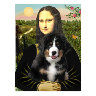 Mona Lisa - Bernese Mt Dog Puppy Postcard