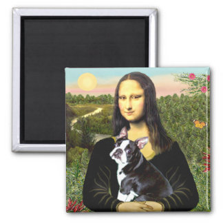 Mona Lisa - Boston T #4 Imán Cuadrado